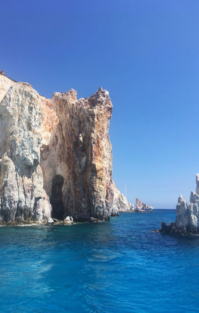 Polyaigos Island, deep blue sea, Milos Boat Tour, Greece