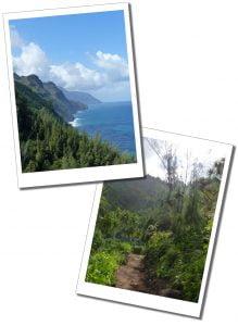 Views of the Kalalau Trail, Hawaii.