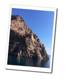 Vani and it's rainbow coloured rocks, Milos Boat Trip, Greece