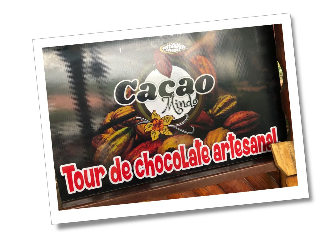 Cacao Mindo Tour sign