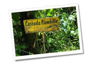 Casada Nambillio sign post, Mindo Ecuador