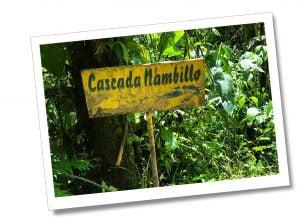Casada Nambillio sign post, Mindo Ecuador