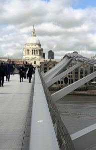 The Millennium bridge & St.Pauls Cathedral, London