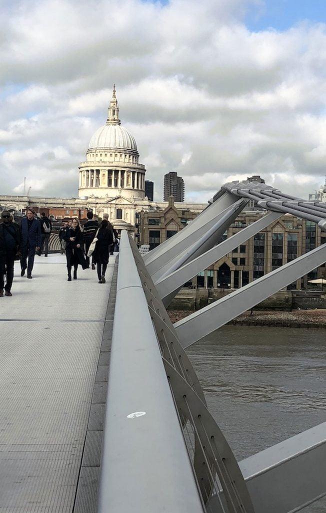 The Millennium bridge & St.Pauls Cathedral, London