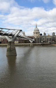 The Millennium bridge, River Thames and St.Pauls Cathedral