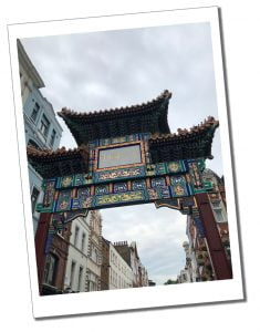 A view of the entrance to China Town in London's West end