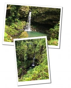 Emerald Pool waterfall, Dominica, hiking, Caribbean