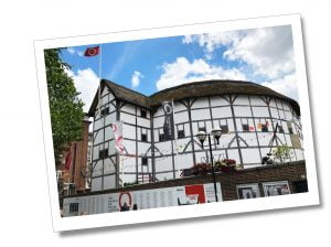 The Globe Theatre on the South bank of the River Thames, London