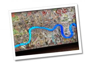 A Map of River Thames from inside the Shard, London