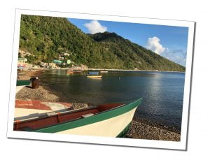 Tranquil beach view Soufriere, Dominica, Caribbean