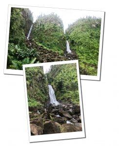 Trafalgar falls, Dominica, hiking, Caribbean