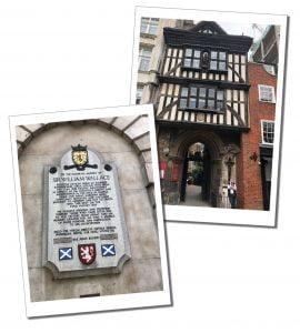 St.Bartholomews Hospital and Wallace monument. London
