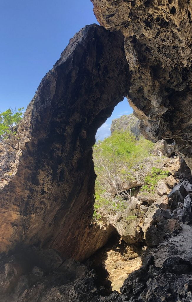 Cave, two foot bay, Barbuda