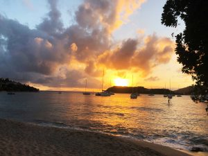 Sunset at Pigeon Point Beach, Antigua