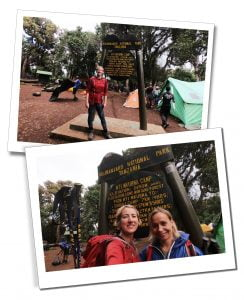 Mount Kilimanjaro day 1 Londorosi Gate with SWWW and Brigitte