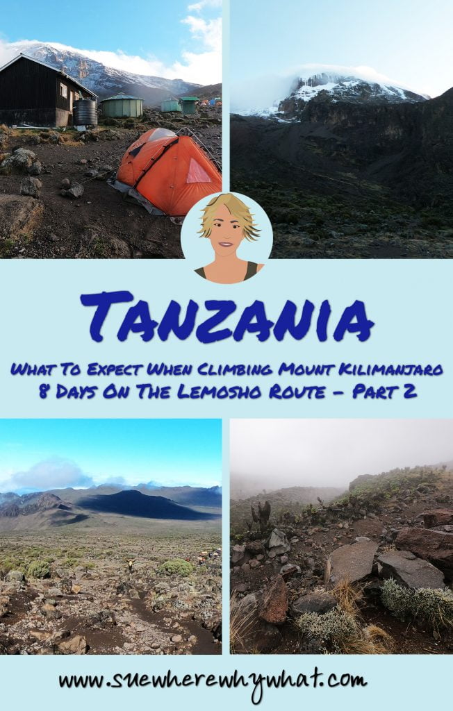 Quarter Pin of What To Expect When Climbing Mount Kilimanjaro. 8 Days on the Lemosho Route - Part 2
