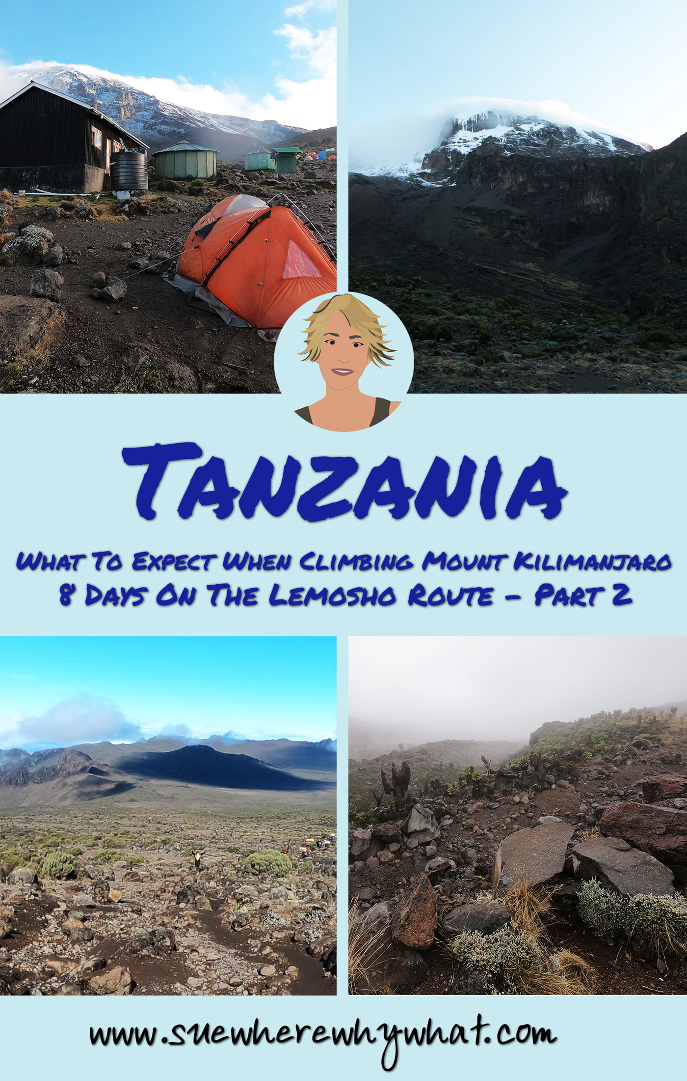 Read all about my adventures on the 8 day Lemosho Route to climb Mount Kilimanjaro. Includes Days 4 – 6 from Shira II to Barafu Base Camp, the impact of altitude, Baranco Wall, Kissing Rock & Lava Tower. If you have ever wondered what it is really like to attempt Africa's highest mountain, look no further for an honest account of what you can expect.