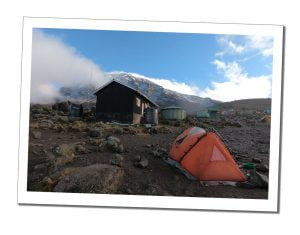Tents at Barafu Camp, close to the summit