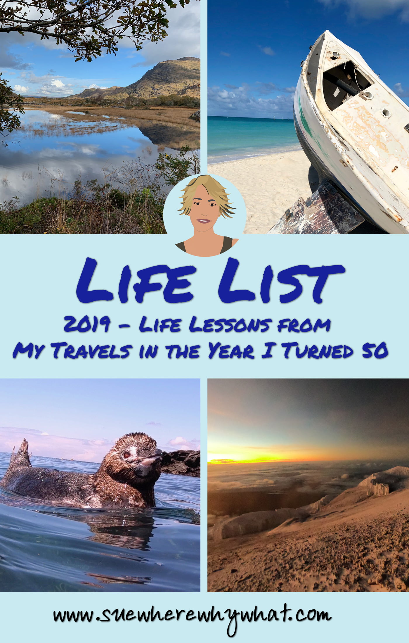 A review of travel experiences from 2019, the year I turned 50. Includes climbing Mount Kilimanjaro, Galapagos Islands, Buckingham Palace Tour, Tea at the Ritz, Zanzibar, hiking the Quilotoa Loop in Ecuador, Dominica, Martinique, Ireland & flying a glider! Creating your Life List (Bucket List) then look no further for inspiration!