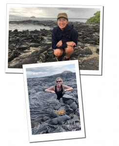 SWWW with Sea Iguana's and 'buried' in lava field, Galápagos