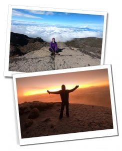SWWW at the top of Barranco Wall and Summit at dawn, Mount Kilimanjaro, Tanzania