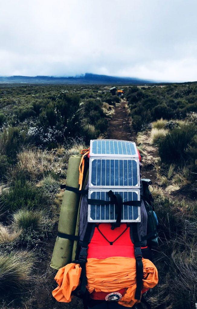 Solar power, Lemosho Route, Mount Kilimanjaro