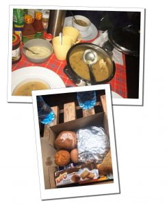 A typical food and supplies, when climbing Mount Kilimanjaro
