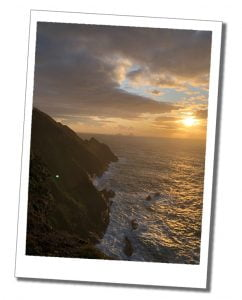 "The Cliffs at Sunset... ""Kerry's Most Spectacular Cliffs"" Ring of Kerry, Ireland"