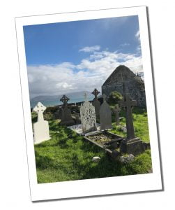 A graveyard by the sea on The Ring of Kerry, Ireland