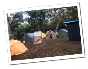 A typical camp scenario, when climbing Mount Kilimanjaro