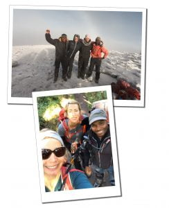 SWWW and team, while Climbing Mount Kilimanjaro
