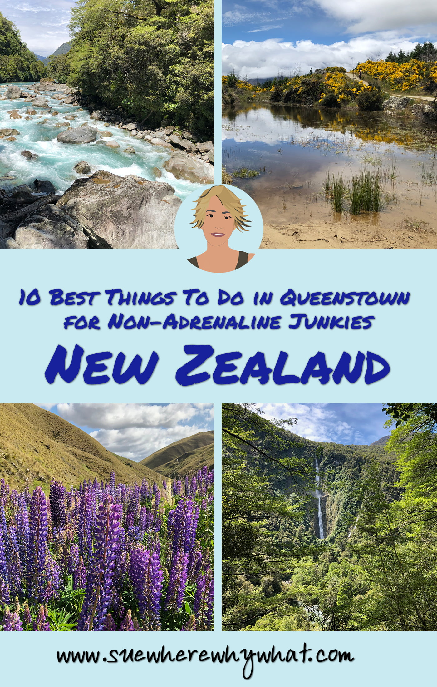 Top 10 Things to do in Queenstown for Non-adrenaline junkies. Queenstown is renowned for being the Adrenaline Capital of the World, but what can you do if you are not really into throwing yourself off a bridge or out of a plane? Here is my list of the 10 best things to do in Queenstown for Non-adrenaline junkies! Includes Glenorchy & Kinloch, wine tour, hiking Queenstown Hill Trail, Skyline Gondola, trips to Milford Sound & Wanaka & loads of recommendations for bars & restaurants.