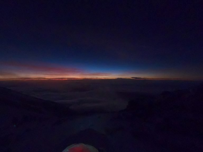 Day break, Summit, Mount Kilimanjaro, Tanzania