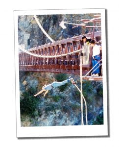 SWWW Bungee jumping in 1992. Best things to do in Queenstown