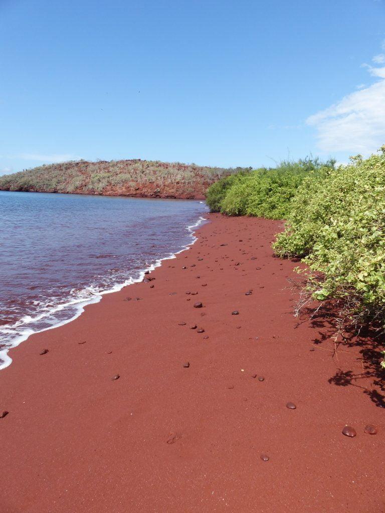 Red Sand of Rabida Red Beach, The Galápagos, Ecuador