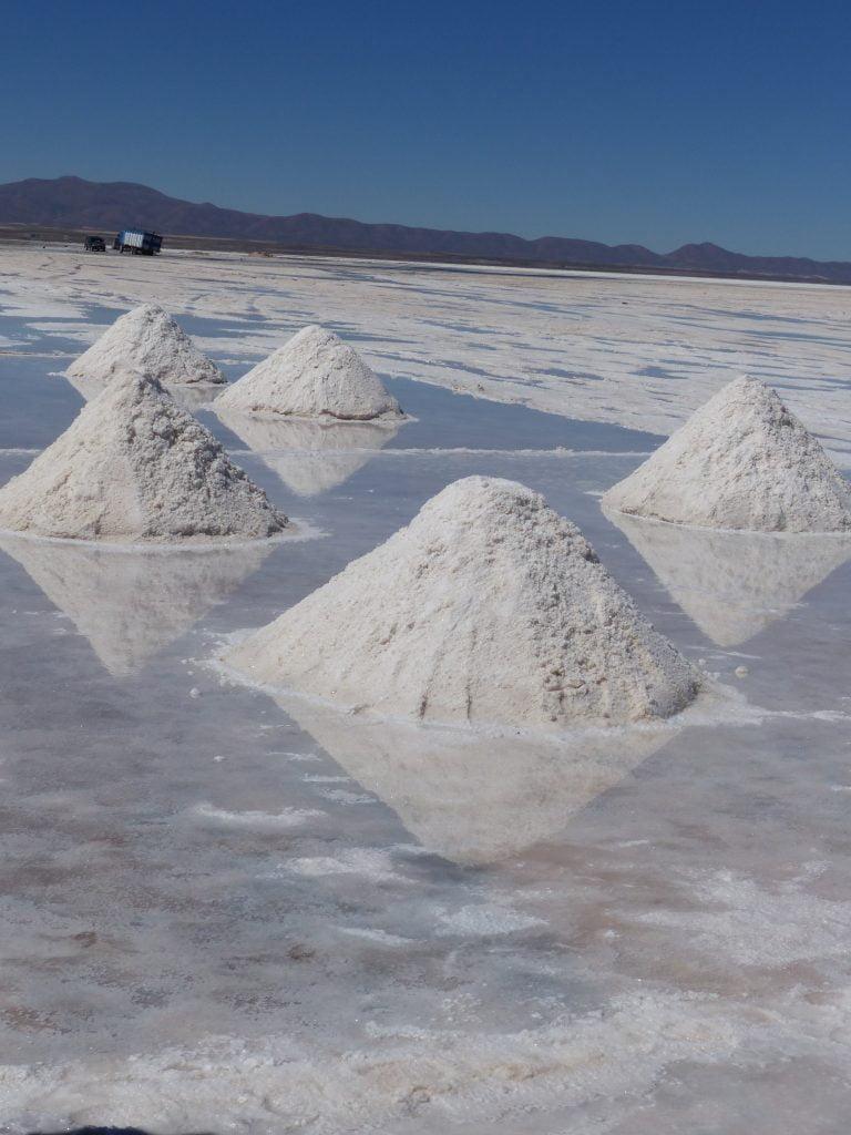 Piles of Salt Reflections, Uyuni Salt Flats, Bolivia