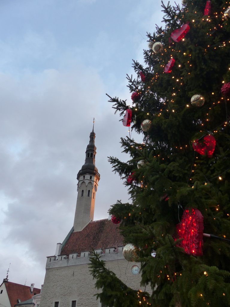 Daytime, town square at Christmas, Tallinn - Estonia