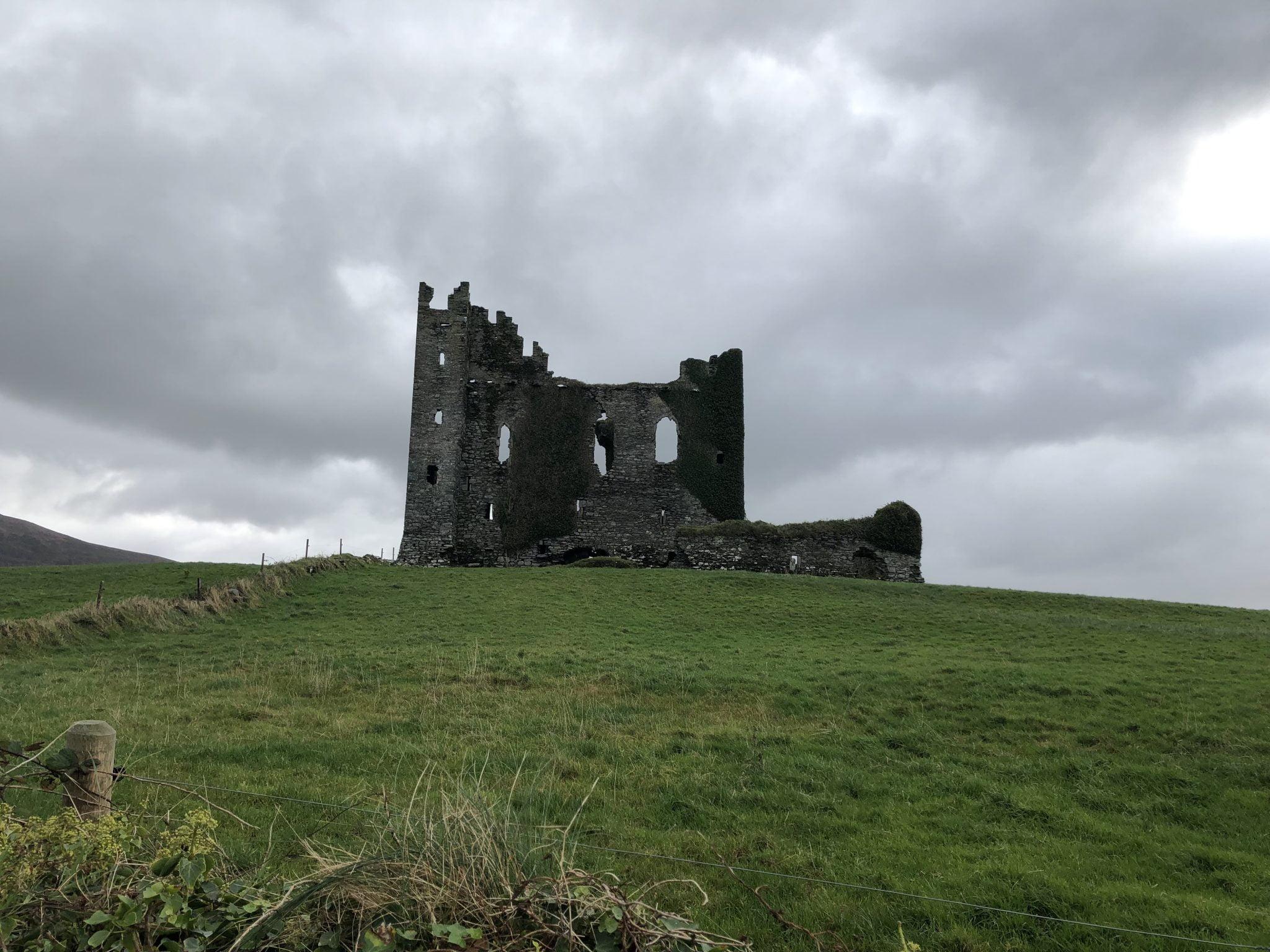 Ballycarbery Castle, near Cahersiveen, County Kerry, Ireland