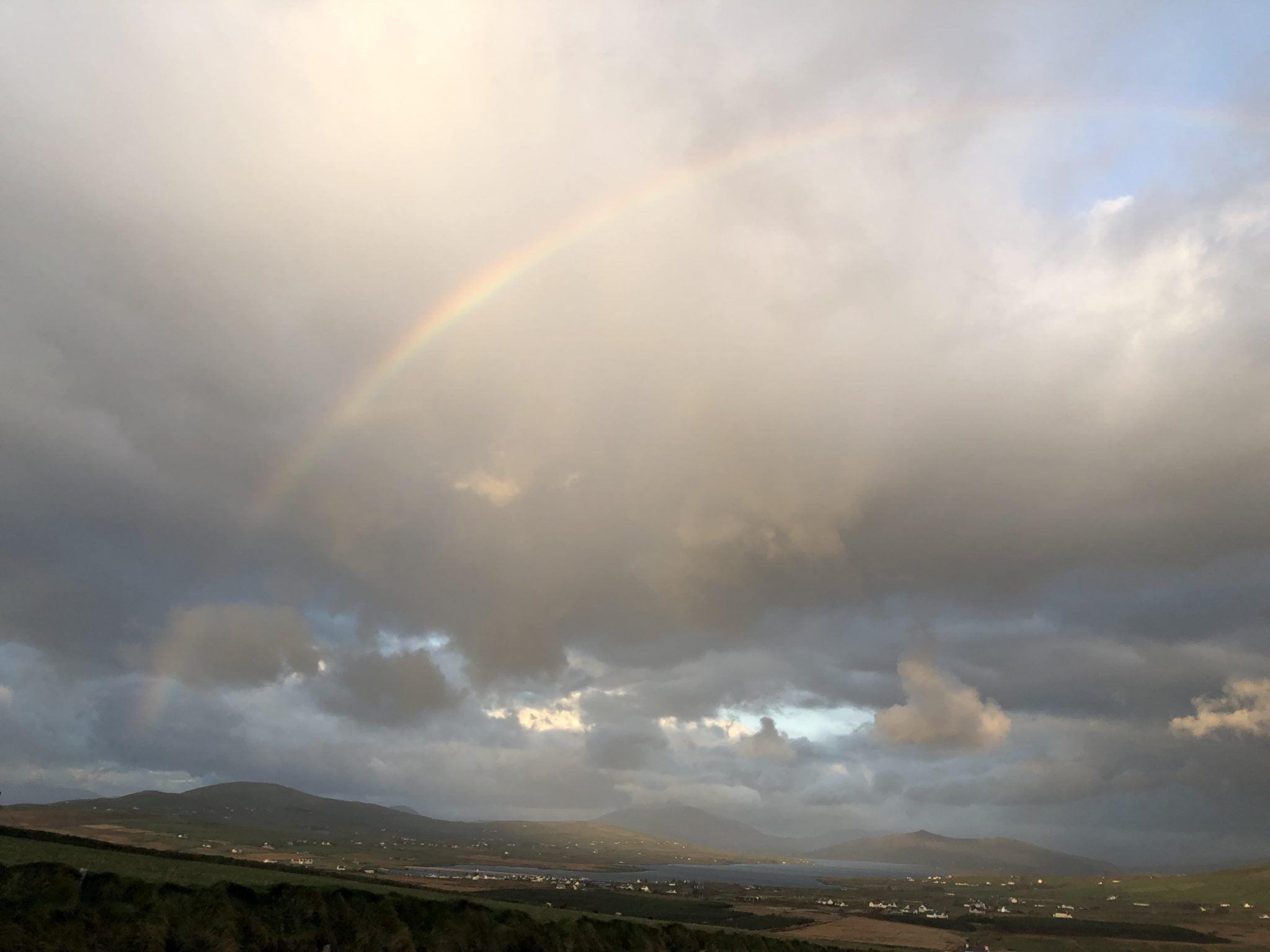 Rainbow sky, Ring of Kerry, Ireland