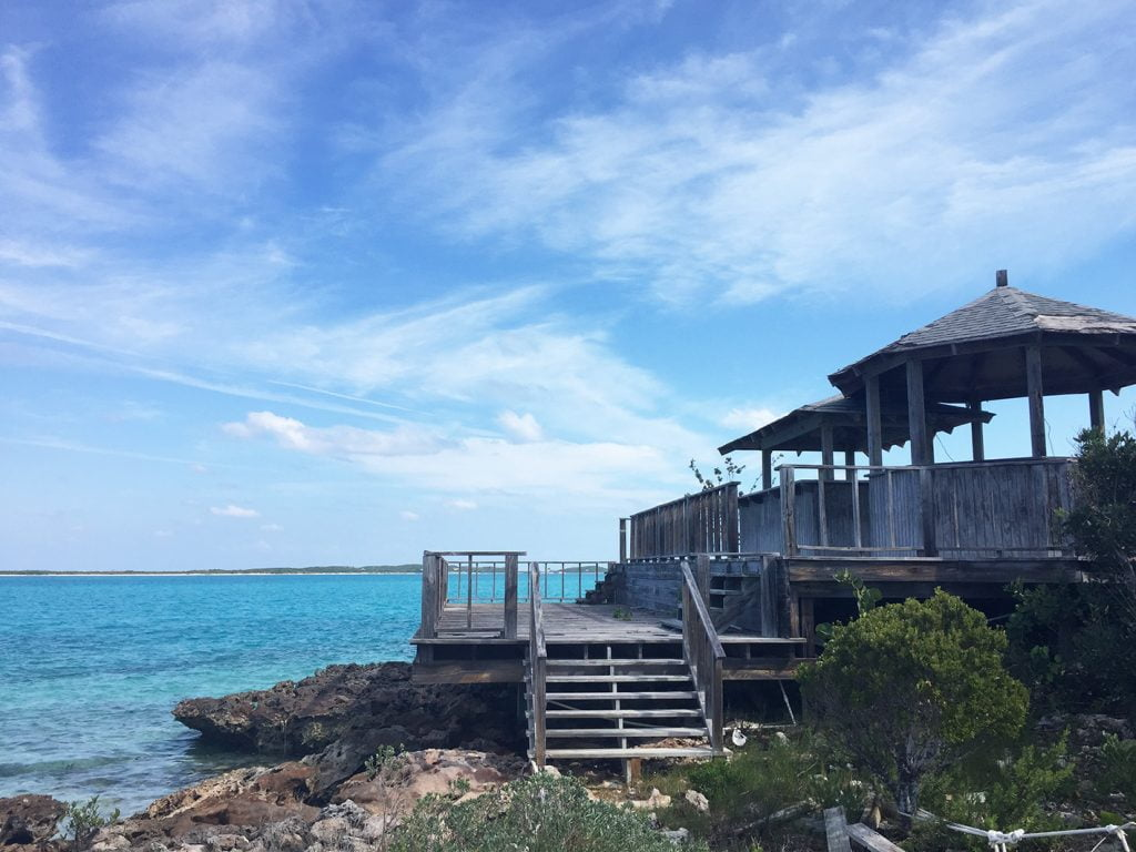 Deserted Seaside Jetty, Bahamas, Caribbean