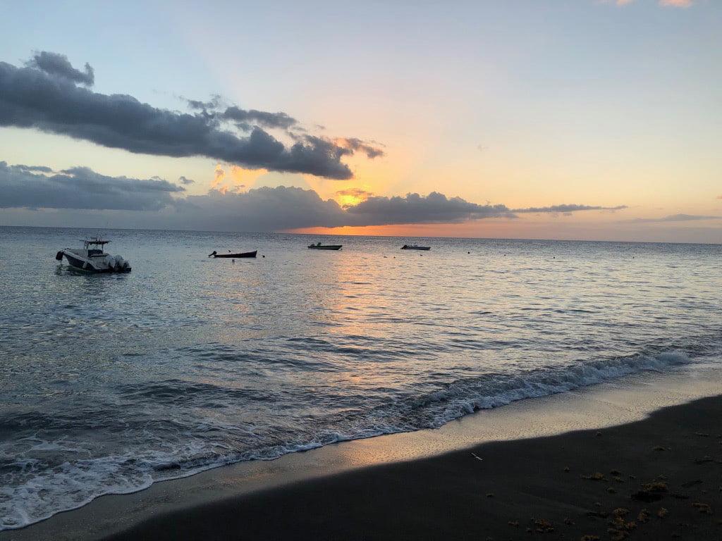 Dusk, Martinique, Caribbean