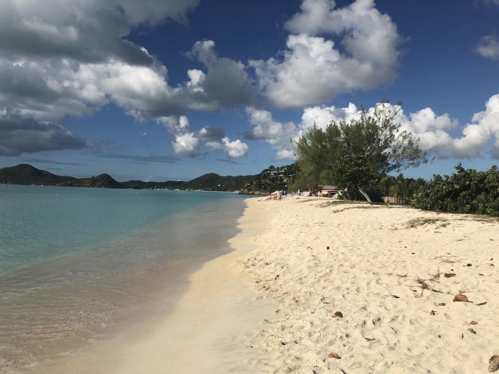 Cloudy beach scene, Antigua