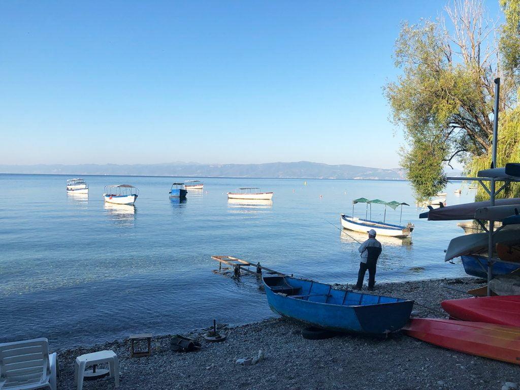 Fisherman at Lake Ohrid, Macedonia