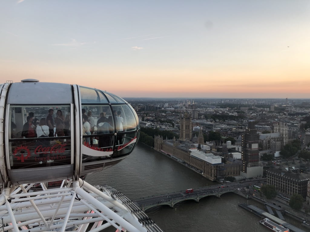 View from The London Eye, River Thames, London