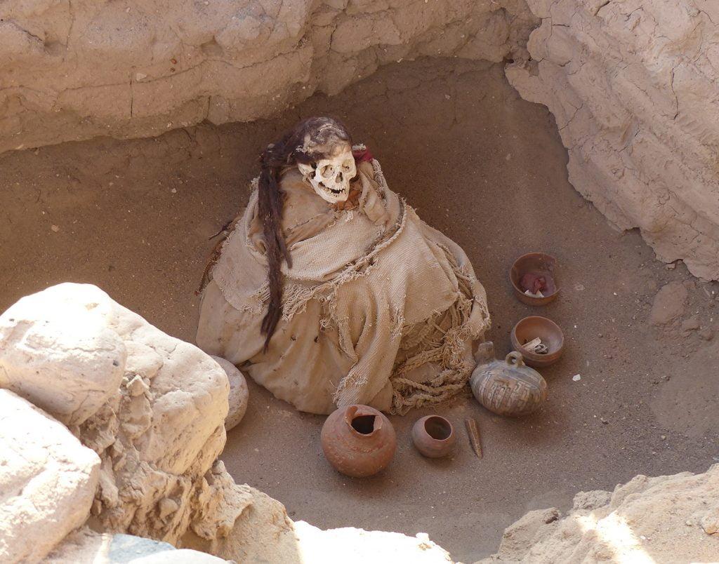 Mummy at Chauchilla Cemetary, Peru