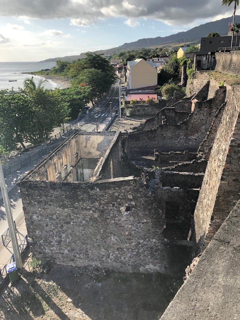 Ruins, St.Pierre, Martinique, Caribbean