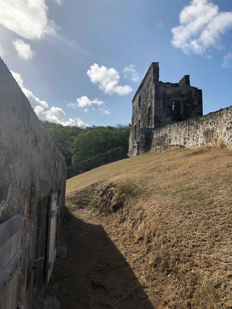 Plantation ruins Martinique, Caribbean