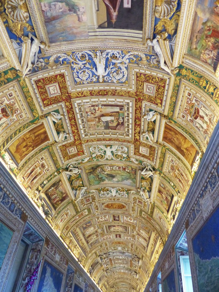 Ceiling of St Peters Basilica, Rome, Italy