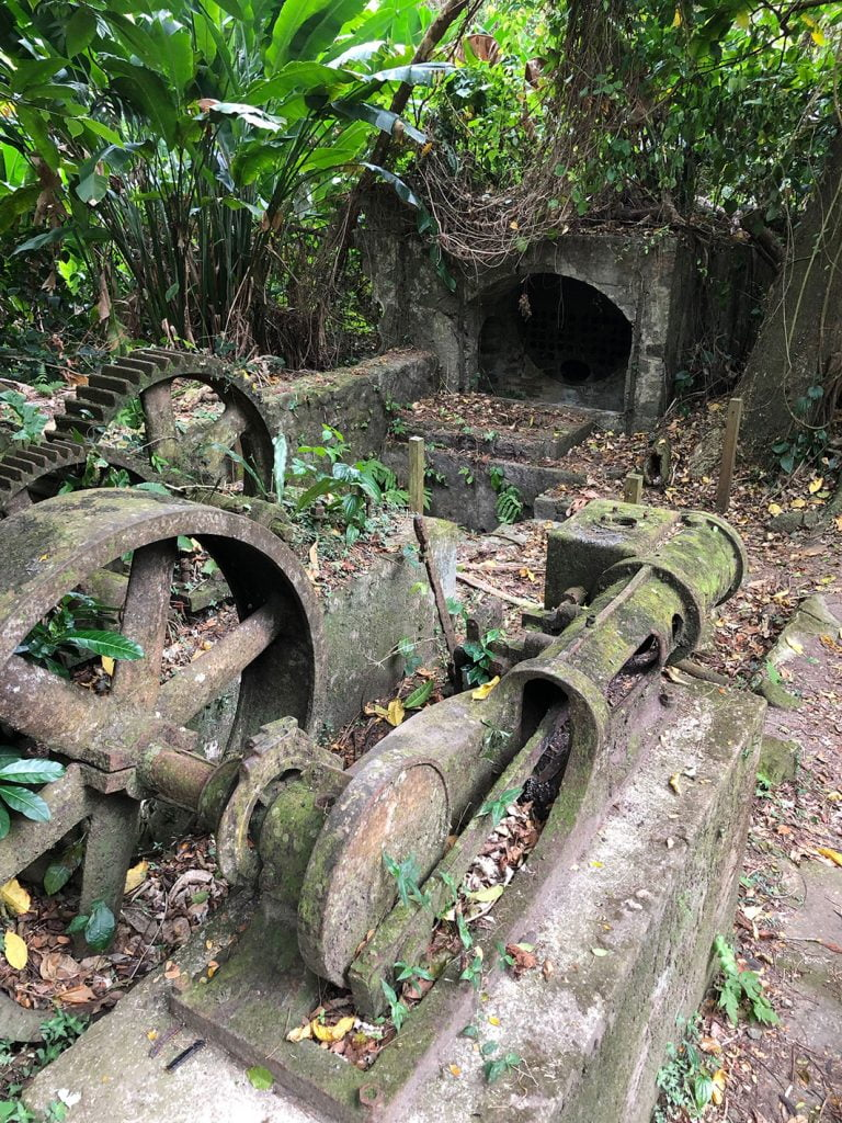 Rusting machinery, St.Pierre, Martinique, Caribbean