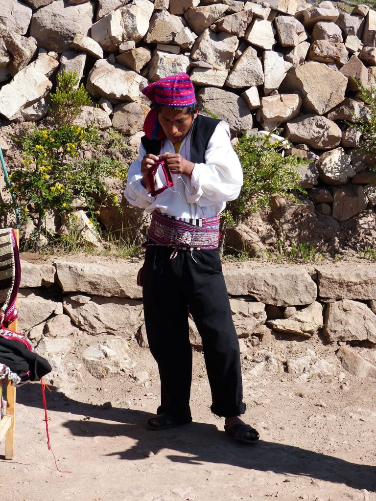 Taquiles Island Lake, Titicaca, Peru